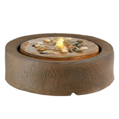 LED Round Floor Water Feature