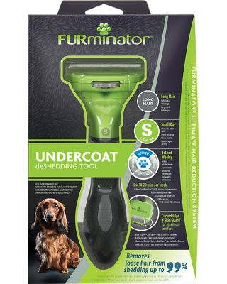 FURminator Undercoat deShedding Tool for Small Lon
