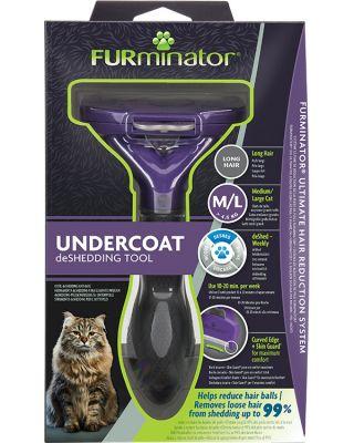 FURminator Undercoat deShedding Tool for Medium/Large Long Hair Cat