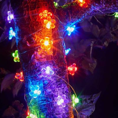 Smart Garden 30 Multi Coloured Firefly Solar String Lights