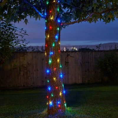 Smart Garden 100 Multi Coloured Firefly Solar String Lights