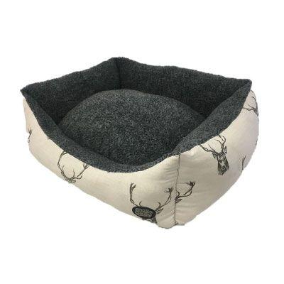Snug & Cosy Rectangular Bed Stag Print