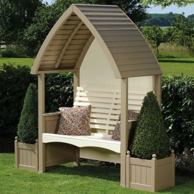 AFK Cottage Painted Arbour Nutmeg/Cream