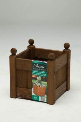 """AFK Garden Classic Planter Chestnut 12"""""""