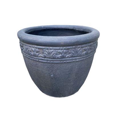 Virginia Round Pot Pebble 44x40