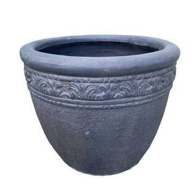 Virginia Round Pot Pebble 57x59