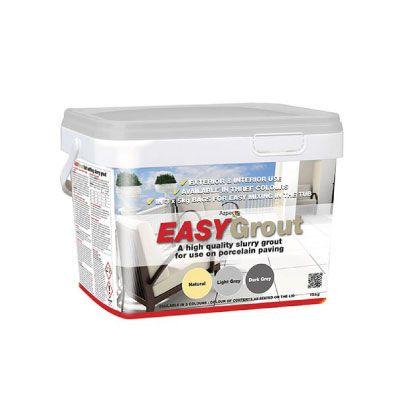Azpects EASYGrout Porcelain Paving Grout 15kg – Light Grey