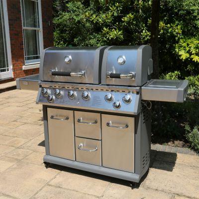 ENJOi Core Stainless Steel Twin 6 Burner BBQ