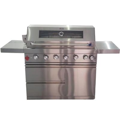 Draco Grills 6 Burner Z640 Deluxe Outdoor Kitchen Barbecue