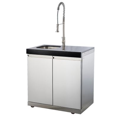 Draco Grills Double Cabinet with built in Sink Outdoor Kitchen Module