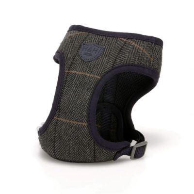 Hugo & Hudson Grey Checked Herringbone Harness L