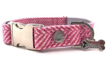 Hugo & Hudson Pink Herringbone Collar L