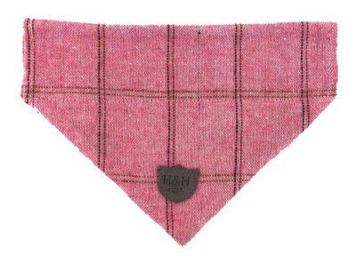 Hugo & Hudson Pink Herringbone Bandana XS
