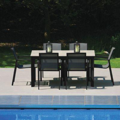 Westminster Madison Rectangular 6 Seater Garden Dining Set Charcoal