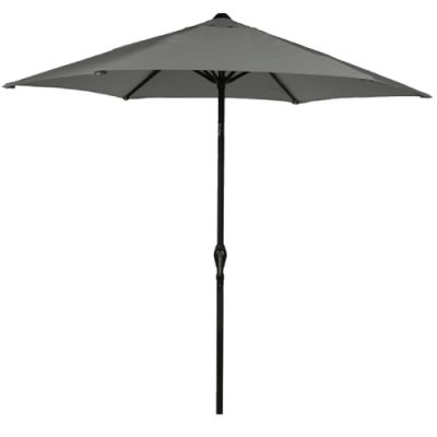 Harbo 2.5m Grey Crank and Tilt Round Parasol