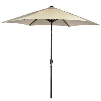 Harbo 2.5m Ecru Crank and Tilt Round Parasol
