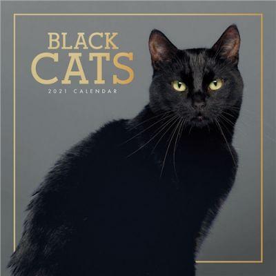 Black Cats Wall Calendar 2021