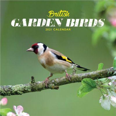 British Garden Birds Mini Wall Calendar 2021