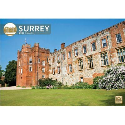 Surrey A4 Wall Calendar 2021