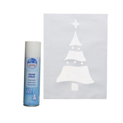 Snow Spray 150ml & Christmas Tree Stencil