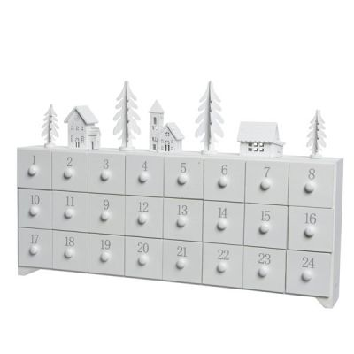 MDF Advent Calendar Boxes   White