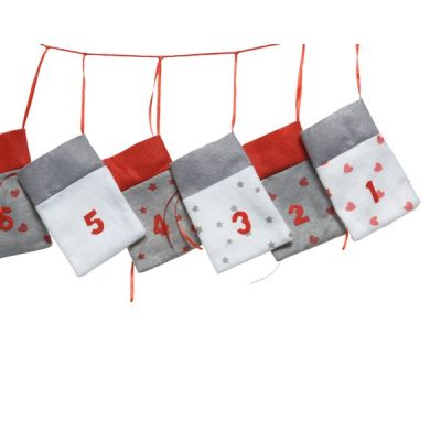 14cm Felt Advent Calendar Garland