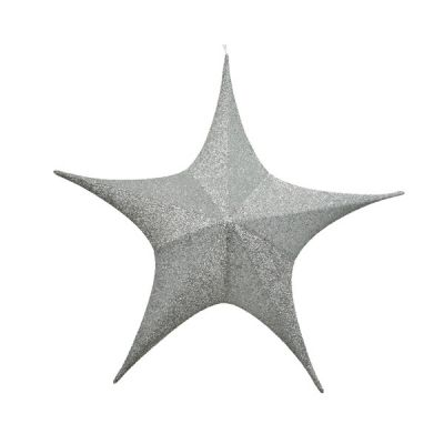 180cm dia Glitter Star   Silver