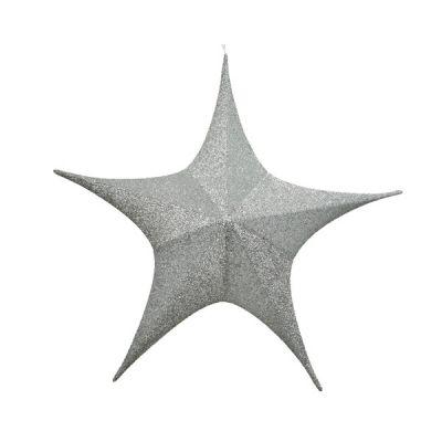 80cm dia Glitter Star   Silver