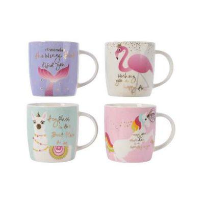 17cm Porcelain Animal Mug   Assorted Colours