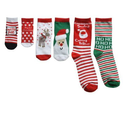 Christmas Themed Sock Set   Assorted Sizes and Colours