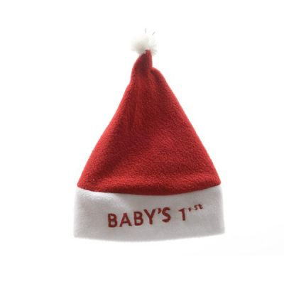 Santa Hat for Baby's 1st Christmas   Red, White