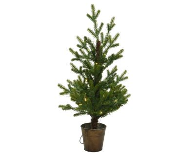 Pre Lit Mini Queensland  Potted Tree