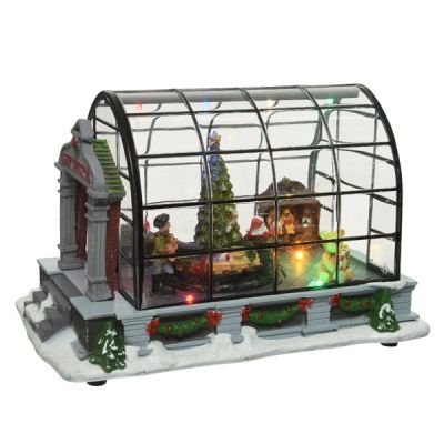 LED Greenhouse with Christmas Tree Scene