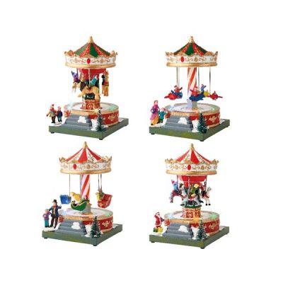 LED Christmas Carousel Scene