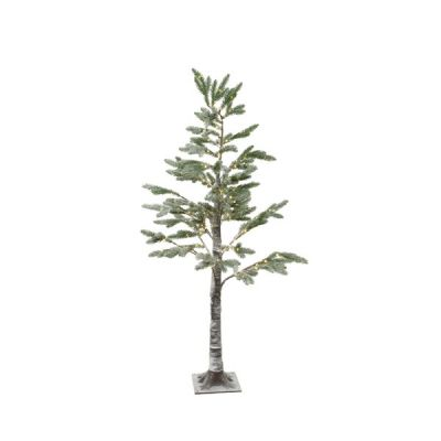 150cm micro LED lit Pine Tree with Snow Effect   Warm White 240 LEDs