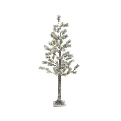 150cm LED lit Pine Tree with Snow Effect   Warm White 72 LEDs