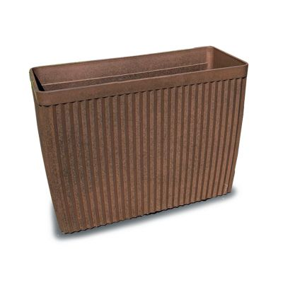 Robert Charles Aged Lite Rectangle Pot Large Clay Rust