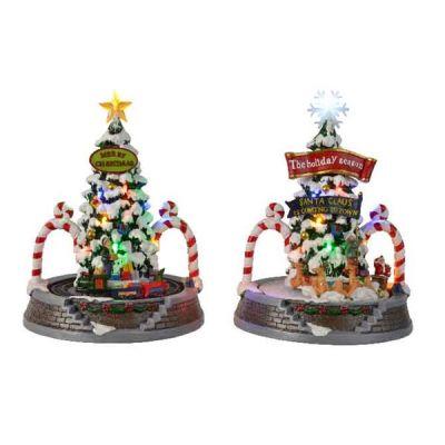 LED Christmas Tree Scene