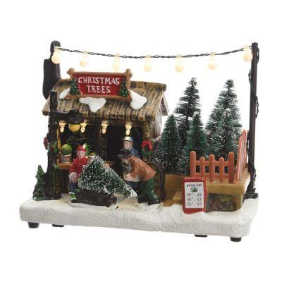 LED Christmas Tree Sale Scene