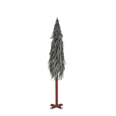 Christmas Tree with Silver Glitter 90cm