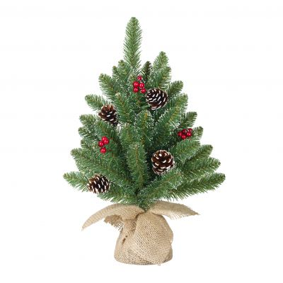 Creston Christmas Tree w Burlap Berries 60cm