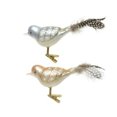 Clip On Decorative Glass Bird