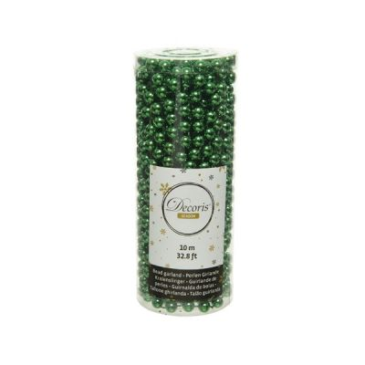 Bead Garland in Holly Green