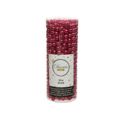 Bead Garland in Berry Pink