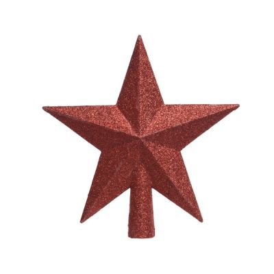 Christmas Red Shatterproof Tree Topper