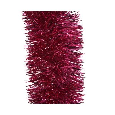 Tinsel Garland in Berry Pink