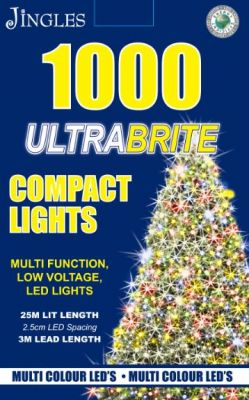 1000 LED Ultra Brite Multi Colour Compact Lights