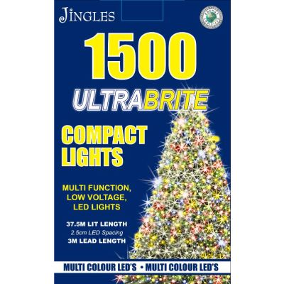 1500 LED Ultra Brite Multi Colour Compact Lights