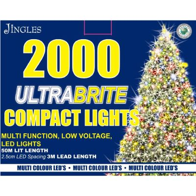 2000 LED Ultra Brite Multi Colour Compact Lights