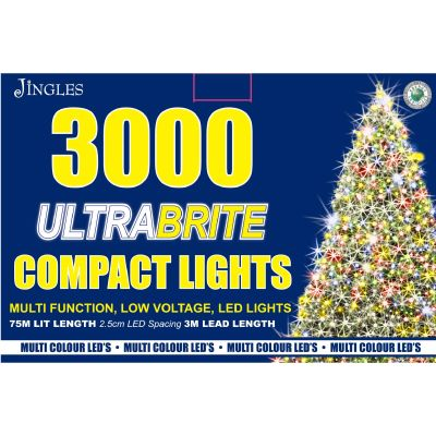 3000 LED Ultra Brite Multi Colour Compact Lights